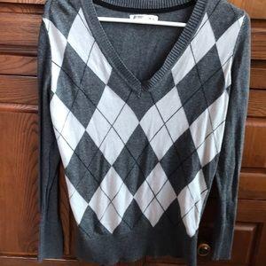 Old Navy argyle sweater